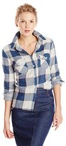Levi's Women's Double-Layered Plaid Roll-Cuff Shirt