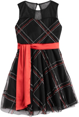 My Michelle Girls 7-16 Red Bow Dress