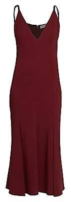 Victoria Beckham Women's Cami V-Neck Flare Midi Dress