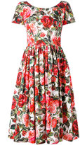 Dolce & Gabbana rose print dress - women - Cotton - 40