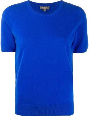 N.Peal Short-Sleeved Cashmere Top