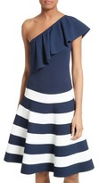 Milly Women's One-Shoulder Flounce Knit Top