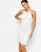True Decadence Cami Strap Sequin Embellished Dress