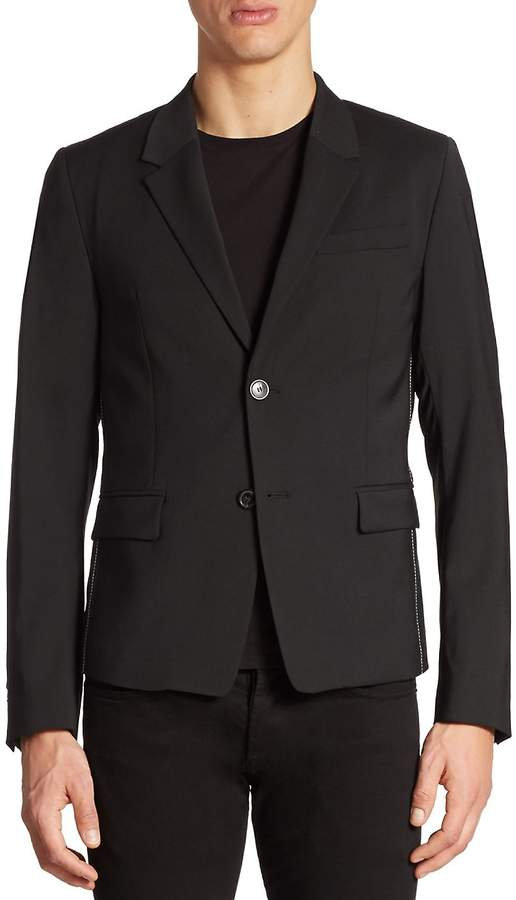 Diesel Black Gold Men's Cropped Runway Wool Blend Blazer