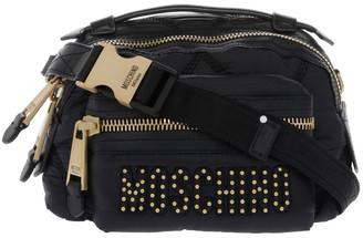 Moschino Zip-Around Crossbody Bag with Studded Logo