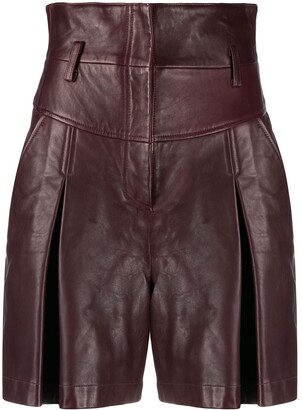 Alberta Ferretti High-Waist Matte Shorts