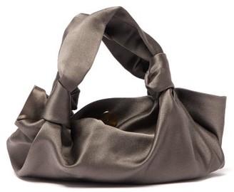 The Row The Ascot Satin Clutch Bag - Grey