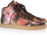 Mulberry Blurry Bloom canvas high-top sneakers