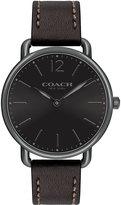 Coach 40mm Delancey Slim Leather Watch, Black