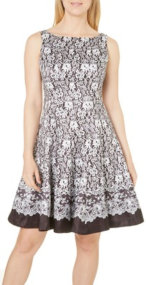 Julian Taylor Women's All Over Floral Fit and Flare Dress