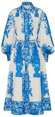 Valentino Printed Poplin Midi Dress