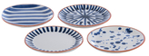 Shiraleah Assorted Ceramic Appetizer Plates (Set of 4)