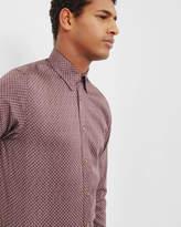 Ted Baker TEOFACE Geo print cotton shirt