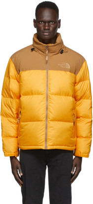 The North Face Yellow and Brown Eco Nuptse Jacket