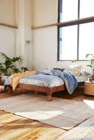 Urban Outfitters Eloisa Carved Wood Platform Bed
