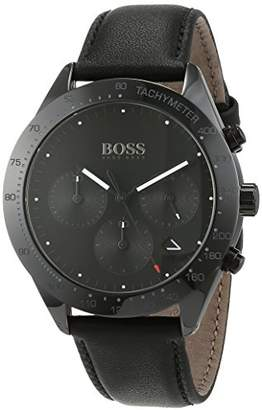 HUGO BOSS Unisex-Adult Chronograph Quartz Watch with Leather Strap 1513590