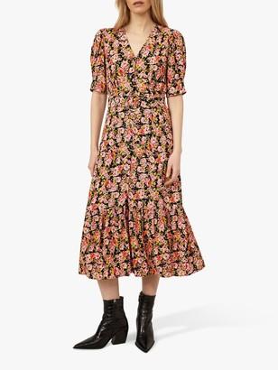 Warehouse Floral Belted Dress, Multi