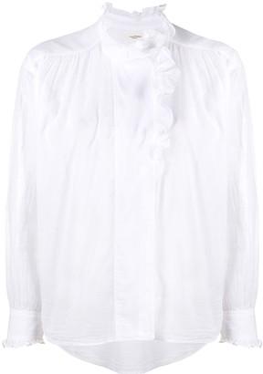 Etoile Isabel Marant Ruffled-Collar Cotton Blouse