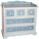 The Well Appointed House Hand Painted Blue Gingham Changer