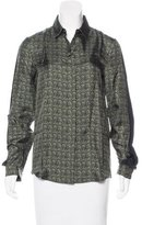 Neil Barrett Silk Printed Blouse w/ Tags