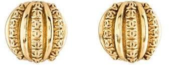 Chanel CC Channel Clip-On Earrings