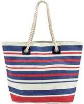 San Diego Hat Company Woven Striped Tote with Rope Handles BSB1704 (Women's)