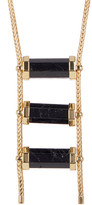 House Of Harlow Triple Black Tourmaline Drop Necklace