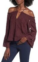 Leith Women's Off The Shoulder Applique Blouse