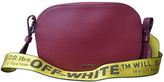 Off-White Off White Red Leather Handbags