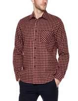 Trimthread Men's Casual Long Sleeve Regular Fit Lightweight Plaid Flannel Button Up Over-Shirt (Medium