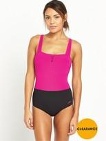 Speedo Sculpture Lunadream Swimsuit - Pink/Black