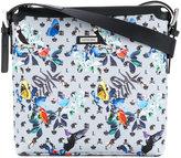 Loveless patterned messenger bag