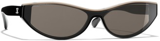 Chanel Cat Eye Sunglasses CH5415 Black/Beige