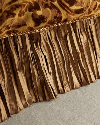 Austin Horn Collection Luxe Pleated Silk California King Dust Skirt