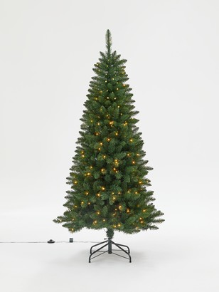 John Lewis & Partners Spire Spruce Pre-lit Christmas Tree, 6ft