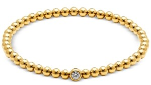 AVA NADRI Cubic Zirconia Beaded Stretch Bracelet