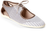 Via Spiga Milk & Taupe Elliot Lace-Up Flats