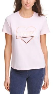 Tommy Hilfiger Metallic Heart Logo T-Shirt