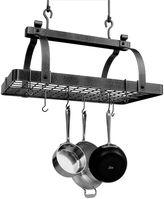 Enclume Premier Collection Classic Rectangle Pot Rack with Grid (No Center Bar)