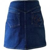 Christian Lacroix Blue Cotton - elasthane Skirt for Women Vintage