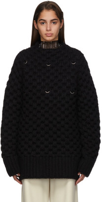 Raf Simons Black Honey Stitch Sweater