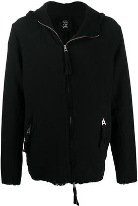 Thom Krom Distressed Style Zipped Hoodie