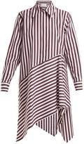 Marques Almeida MARQUES'ALMEIDA Striped asymmetric-hem cotton shirtdress