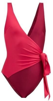 Zimmermann Bellitude Wrap-effect Swimsuit - Pink Multi