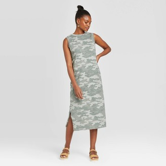 Universal Thread Women's Camo Print Sleeveless Knit Dress - Universal ThreadTM