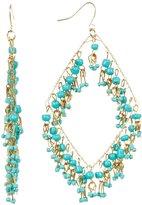 Nordstrom Free Press Beaded Diamond-Shape Dangle Earrings