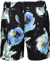 Oscar de la Renta Printed cotton and silk-blend shorts