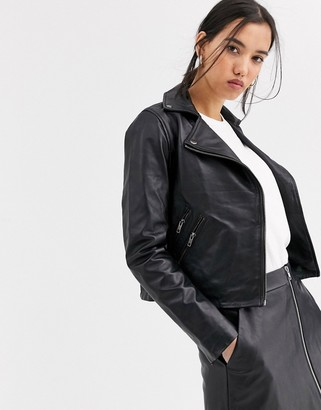 Muu Baa Muubaa classic leather biker jacket