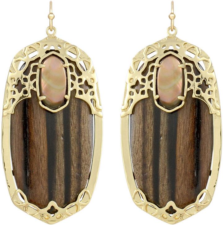 Kendra Scott Deva Earrings, Ebony Wood