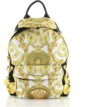 Versace Palazzo Medusa Backpack Printed Nylon Small